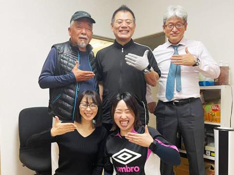 毎月恒例の静岡学園サッカー部総監督・井田総監督にラクリスケア